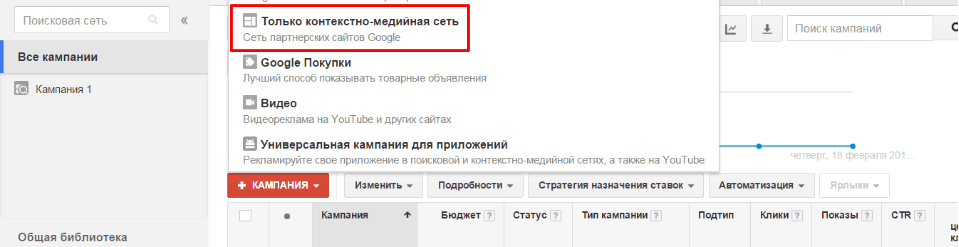 Размещение контекстной рекламы google adwords